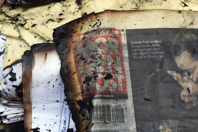 Un incendie criminel commis dans la nuit de... (Photo: Reuters)