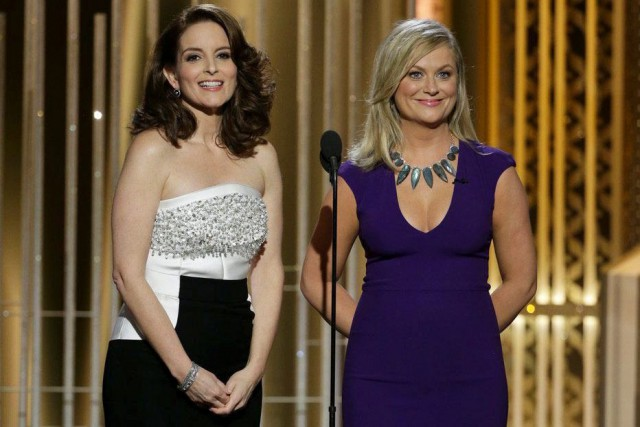 Tina Fey et Amy Poehler animaient à nouveau... (Associated Press)