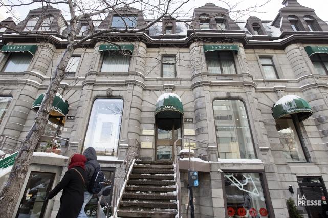 La galerie Landeau, sur la rue Sherbrooke Ouest,... (PHOTO ROBERT SKINNER, LA PRESSE)