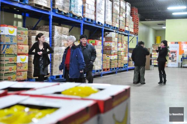 La banque alimentaire Moisson Mauricie-Centre-du-Québec a ouvert ses portes,... (Photo: Émilie O'Connor, Le Nouvelliste)