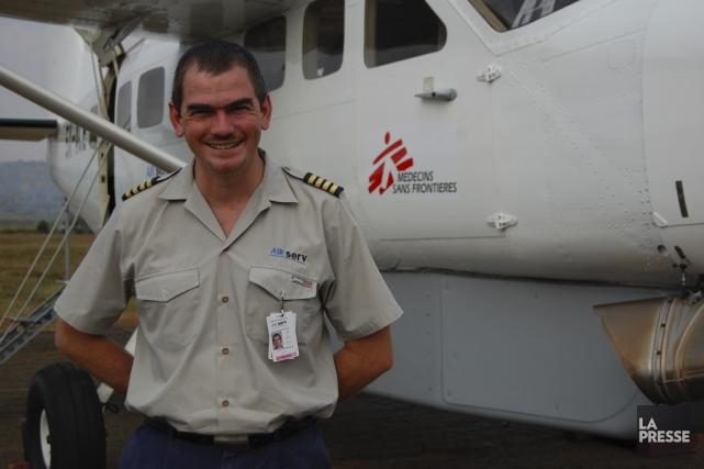 Océan de Rancourt, l'un des pilotes d'AirServ, sur... (PHOTO JEAN-THOMAS LÉVEILLÉ, LA PRESSE)