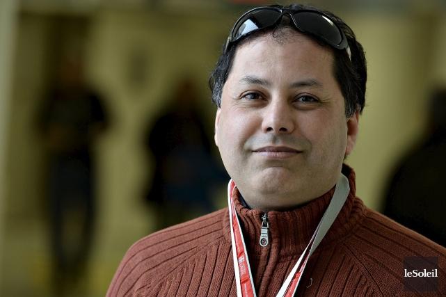 D'origine algérienne, Khaled Khoufache prend la parole en... (Le Soleil, Patrice Laroche)