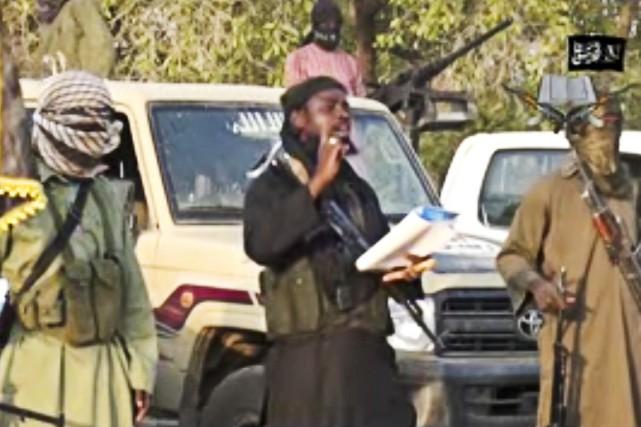 Le chef de Boko Haram Abubakar Shekau a... (IMAGE TIRÉE DE YOUTUBE)