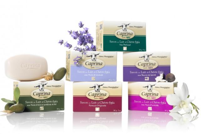Meilleur vendeur de la gamme, le savon Caprina... (PHOTO FOURNIE PAR CAMUS)