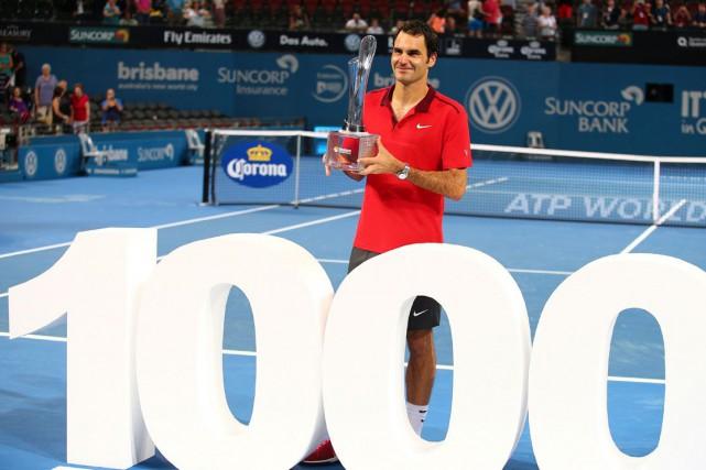 Roger Federer a atteint le plateau des 1000... (Associated Press)