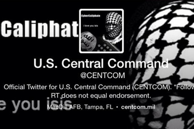 Le compte Twitter du CENTCOM a été piraté.... (IMAGE TWITTER)