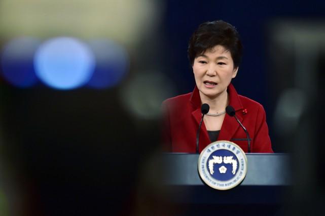 Dans ses voeux de Nouvel An, la présidente... (PHOTO JUNG YEON-JE, REUTERS)