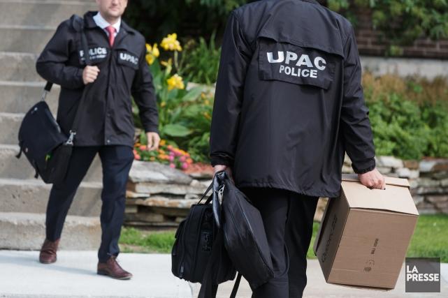 La Ville de Drummondville a collaboré avec l'Unité permanente anticorruption... (Archives La Presse)
