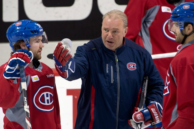 David Desharnais (à gauche) était de retour au... (Photo Ryan Remiorz, archives PC)