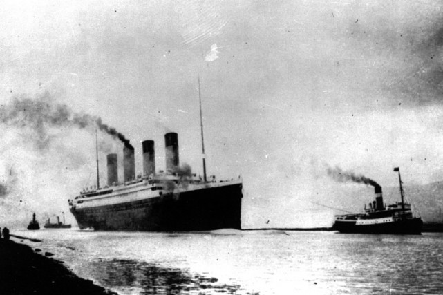 Le Titanic a coulé le 15 avril 1912 au large... (Archives AP)