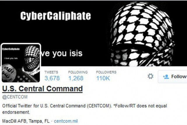 «Twitter a été piraté, pas le Centcom», assure... (PHOTO REUTERS)