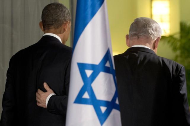 Barack Obama et Benyamin Nétanyahou à Jérusalem en... (Archives AFP)
