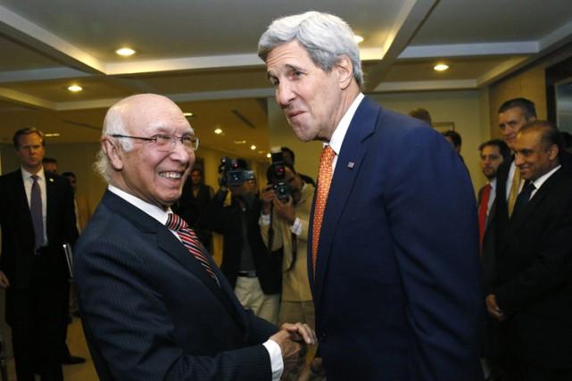 John Kerry a été reçupar le chef de... (Photo: Reuters)