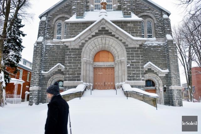 La valeur de l'église Saint-François d'Assise est de... (Le Soleil, Jean-Marie Villeneuve)