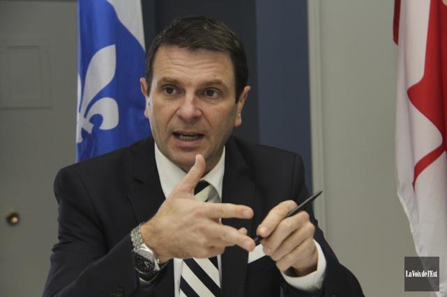Le député François Bonnardel.... (photo Janick Marois, archives La Voix de l'Est)