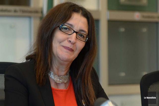 La rectrice de l'Université du Québec à Trois-Rivières,... (Photo: Sylvain Mayer, Le Nouvelliste)