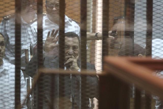 Le statut de détenu d'Hosni Moubarak, âgé de... (PHOTO HASSAN MOHAMED, ARCHIVES AFP)