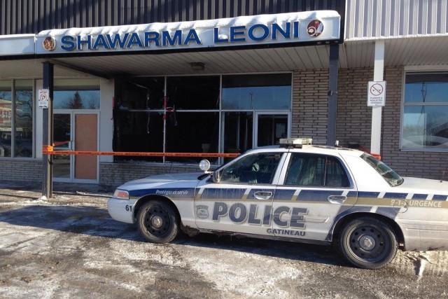 Un restaurant de Gatineau a été la cible d'un incendie possiblement criminel,... (Patrick Woodbury, LeDroit)