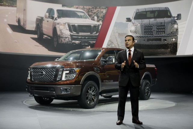 Le PDG de l'alliance Nissan-Renault, Carlos Ghosn pose... (Photo Daniel Acker, Bloomberg)