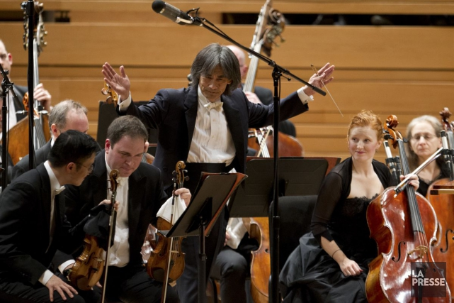 Kent Nagano et l'OSM... (Photo Olivier Jean, Archives La Presse)