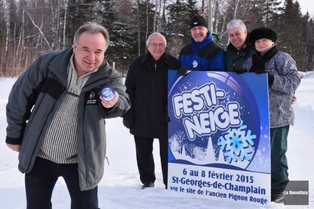 Le président du Festi-Neige, François Duhaime, était accompagné... (Photo: François Gervais, Le Nouvelliste)