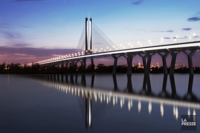Le futur pont Champlain.... (Archives La Presse)