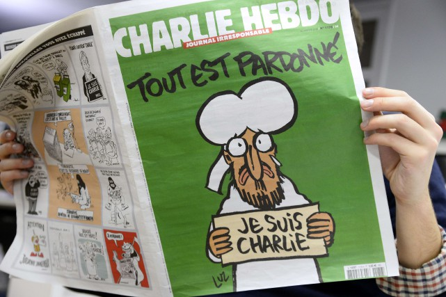 Un plaidoyer en faveur de la laïcité, des dessins des caricaturistes... (Photo BERTRAND GUAY, AFP)
