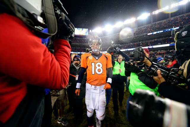 Peyton Manning et les Broncos de Denver ont... (Photo Ron Chenoy, USA Today Sports)