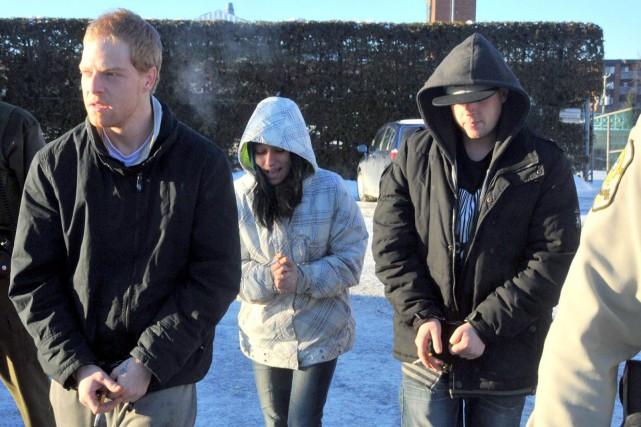 Les trois individus ont comparu au palais de... (Photo collaboration spéciale Éric Beaupré)