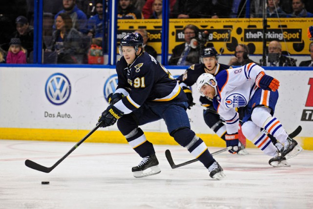 Vladimir Tarasenko a signé un 24e but cette saison et les Blues de St. Louis... (Photo: Reuters)