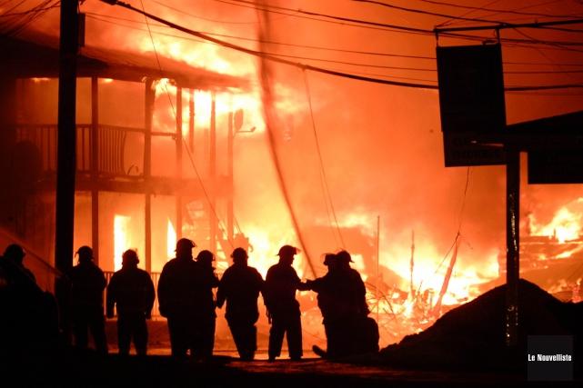 C'est une véritable vision d'apocalypse qui attendait les résidents de... (Photo: Sylvain Mayer Le Nouvelliste)