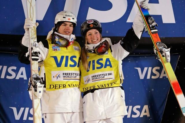 Mikaël Kingsbury et Justine Dufour-Lapointe sont parmi les... (Photo Rick Bowmer, AP)
