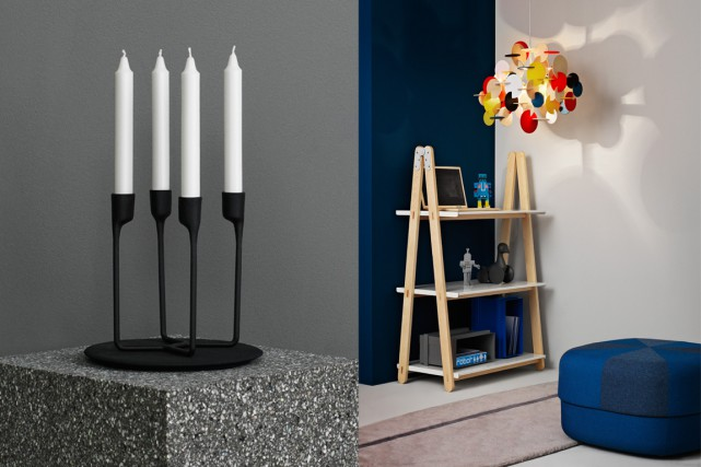 Les célèbres chandeliers noirs en fer Heima et... (Photos fournies par Normann Copenhagen)