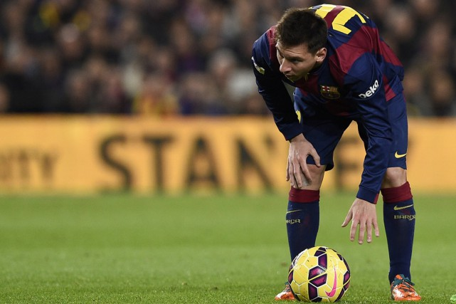 Lionel Messi... (Photo Lluis Gene, AFP)