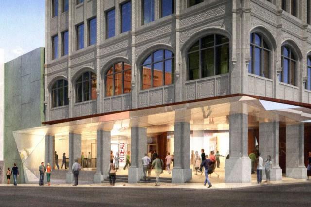 La nouvelle devanture prévue au Centre Rideau.... (Image, courtoisie)