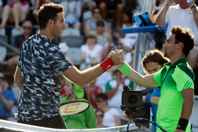 Juan Martin del Potro (à gauche) a défait... (Photo Jason Reed, Reuters)