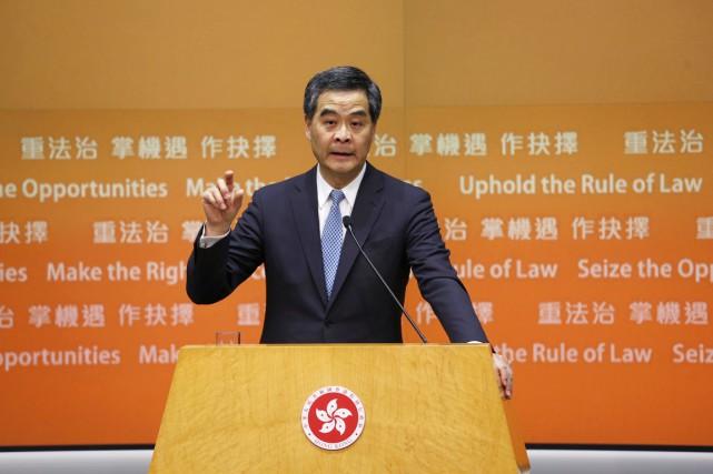 Dans son premier discours devant le Conseil législatif... (PHOTO BOBBY YIP, REUTERS)