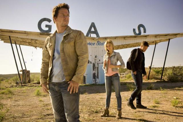 Mark Wahlberg dans une scène de Transformers4: l'âge... (Photo Paramount)