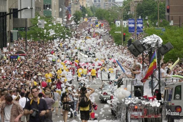 Surnommée «la fête gaie de Montréal», Divers/Cité fait... (Photo Robert Skinner, archives La Presse)