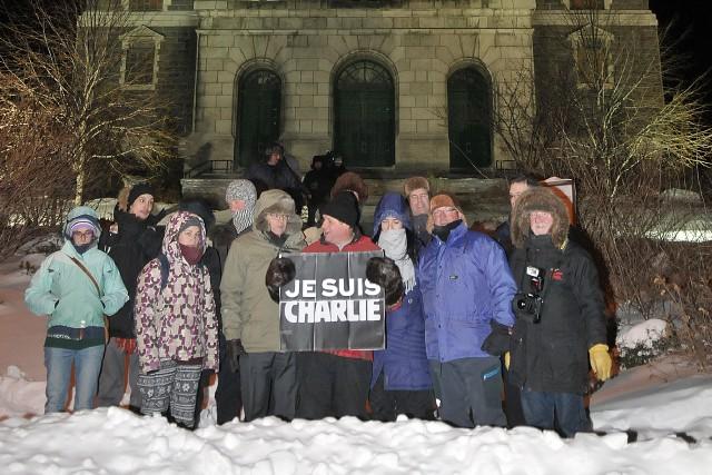 À la suite des événements du Charlie Hebdo, notre collectif a organisé le 7... ((Photo Rocket Lavoie))