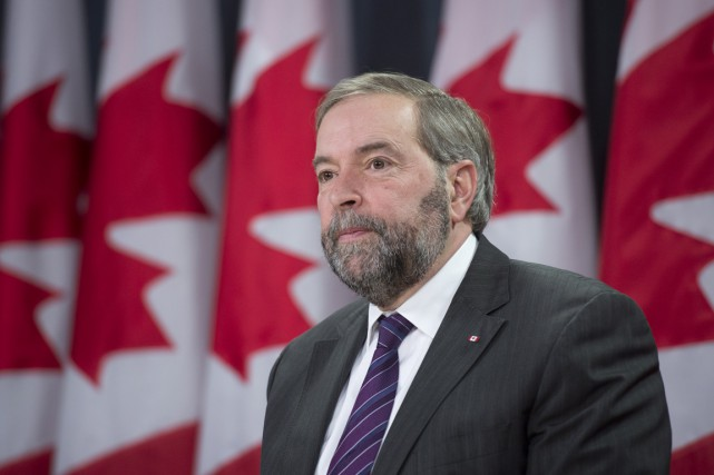 M. Mulcair a confirmé la composition de son... (Photo La Presse Canadienne)