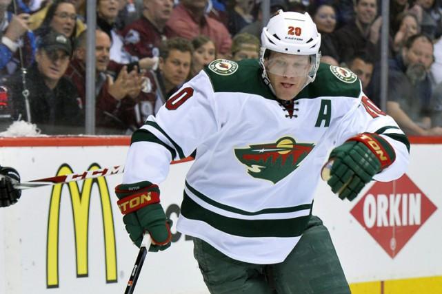 La LNH a suspendu le défenseur du Wild du Minnesota, Ryan Suter, pour deux... (Photo: AP)