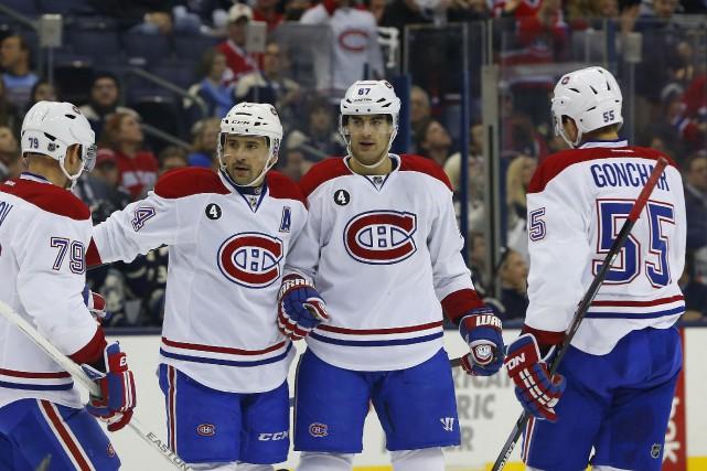 Les Canadiens ont inscrit trois buts sans riposte,... (Reuters)