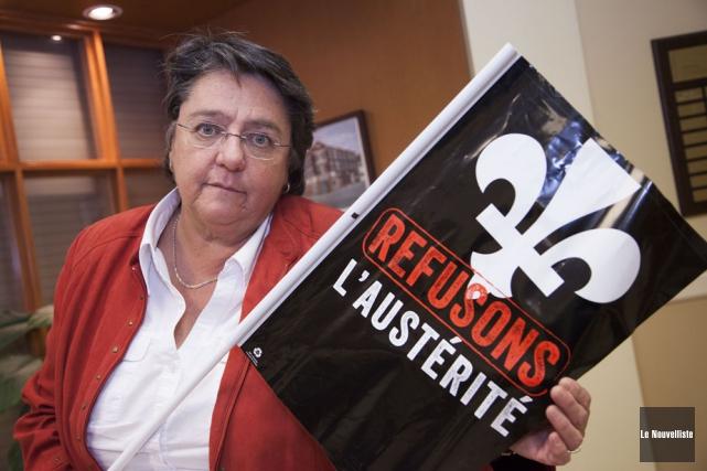 Sylvie Tardif, coordonnatrice de COMSEP, explique que les... (Photo: Ariane Samson, Le Nouvelliste)