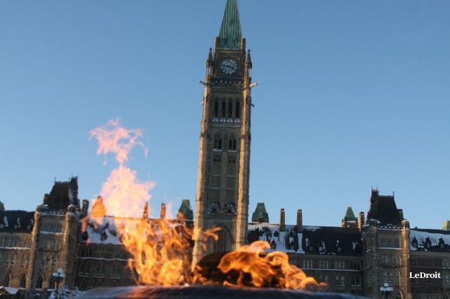 Le parlement d'Ottawa... (Patrick Woodbury, Archives LeDroit)