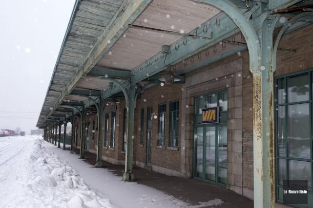 L'ancienne gare de Trois-Rivières.... (Photo: Stéphane Lessard, Le Nouvelliste)
