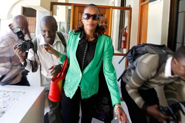 La marathonienne Rita Jeptooà son arrivée aux bureaux... (Photo Thomas Mukoya, Reuters)