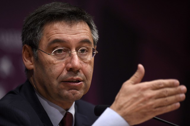 Le président du FC Barcelone, Josep Bartomeu.... (Photo Lluis Gene, AFP)