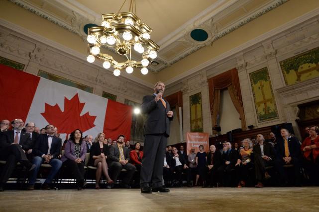 S'il prend le pouvoir aux élections du 19... (PHOTO SEAN KILPATRICK, LA PRESSE CANADIENNE)