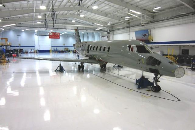 Un Learjet 85 de Bombardier.... (Photo fournie par Bombardier)
